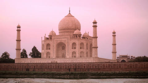 Taj Mahal at Sunset Footage