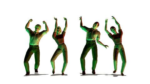 dancing people looping Stock Video Footage