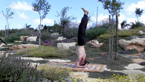 Fitness - Man exercise healthy peaceful Yoga lifestyle Stock Video Footage