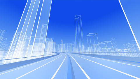City Highway 2b HD Animation