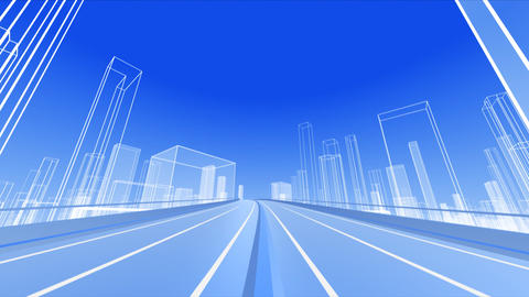 City Highway 2b HD Stock Video Footage