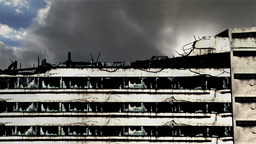 Abandoned Building Clouds Timelapse 07 Stock Video Footage