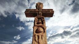 Aztec Maya Inca Cross Clouds Timelapse 06 Stock Video Footage