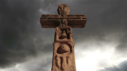 Aztec Maya Inca Cross Clouds Timelapse 08 Stock Video Footage