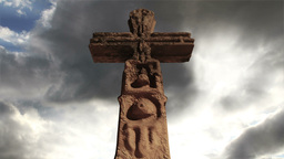 Aztec Maya Inca Cross Clouds Timelapse 08 Stock Video Footage