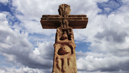 Aztec Maya Inca Cross Clouds Timelapse 10 Stock Video Footage