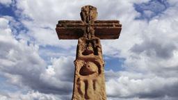 Aztec Maya Inca Cross Clouds Timelapse 10 Stock Video Footage