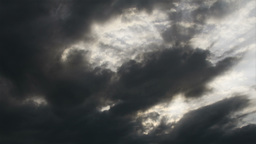 Clouds Timelapse Godrays 02 Stock Video Footage
