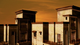 Desert Building Sunset 02 Stock Video Footage