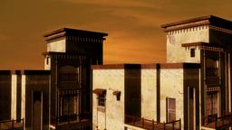 Desert Building Sunset 02 Animation