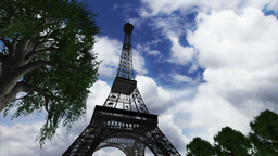 Eiffel Tower Clouds Timelapse 04 Animation