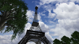 Eiffel Tower Clouds Timelapse 06 Animation