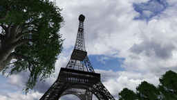 Eiffel Tower Clouds Timelapse 06 Stock Video Footage