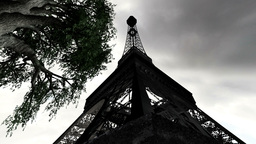 Eiffel Tower Clouds Timelapse 08 Stock Video Footage