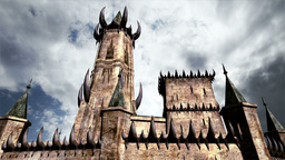 Fantasy Castle Clouds Timelapse 01 Stock Video Footage