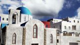 Greek Village Clouds Timelapse 09 pan Animation