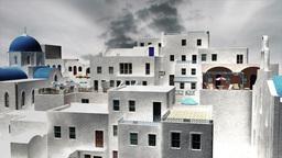 Greek Village Clouds Timelapse 11 Animation