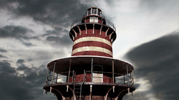 Lighthouse Clouds Timelapse 02 Stock Video Footage