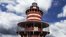 Lighthouse Clouds Timelapse 04 Stock Video Footage