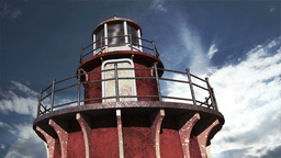 Lighthouse Clouds Timelapse 06 Stock Video Footage