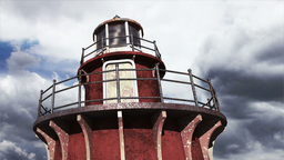 Lighthouse Clouds Timelapse 08 Stock Video Footage