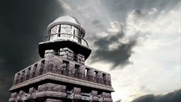 Lighthouse Clouds Timelapse 10 Stock Video Footage