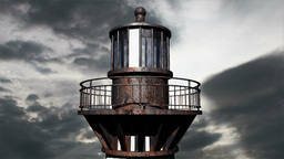 Lighthouse Clouds Timelapse 21 Stock Video Footage