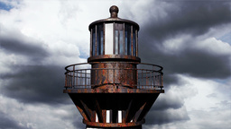 Lighthouse Clouds Timelapse 20 Stock Video Footage