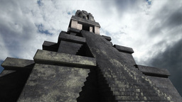 Maya Pyramid Clouds Timelapse 01 Stock Video Footage