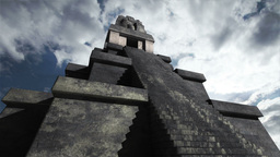 Maya Pyramid Clouds Timelapse 01 Stock Video Footage