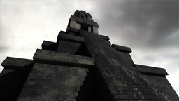 Maya Pyramid Clouds Timelapse 03 Stock Video Footage