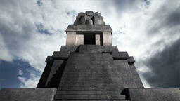 Maya Pyramid Clouds Timelapse 05 Stock Video Footage