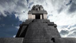 Maya Pyramid Clouds Timelapse 05 Stock Video Footage