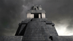 Maya Pyramid Clouds Timelapse 07 Stock Video Footage
