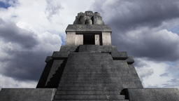 Maya Pyramid Clouds Timelapse 09 Stock Video Footage