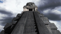 Maya Pyramid Clouds Timelapse 13 Stock Video Footage