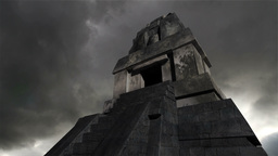 Maya Pyramid Clouds Timelapse 17 Stock Video Footage