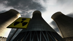 Nuclear Power Plant Clouds Timelapse 06 Stock Video Footage