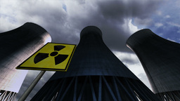 Nuclear Power Plant Clouds Timelapse 08 Stock Video Footage