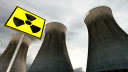 Nuclear Power Plant Clouds Timelapse 10 Stock Video Footage