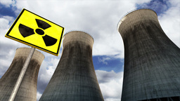 Nuclear Power Plant Clouds Timelapse 12 Stock Video Footage