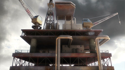Oil Tower Clouds Timelapse 03 Animation