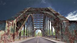 Rusty Bridge Clouds Timelapse 01 Stock Video Footage