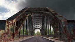 Rusty Bridge Clouds Timelapse 03 Stock Video Footage