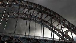 Rusty Bridge Clouds Timelapse 07 Stock Video Footage