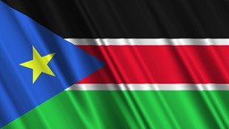 South Sudan Flag Loop 01 Stock Video Footage