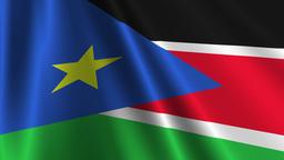 South Sudan Flag Loop 03 Stock Video Footage