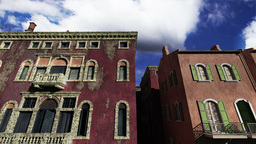 Venice Buildings Clouds Timelapse 04 Stock Video Footage