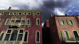 Venice Buildings Clouds Timelapse 04 Stock Video Footage