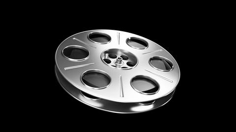 Spining Film Reel Silver Animation